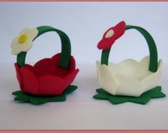 mini cestinha flor Frete Gratis