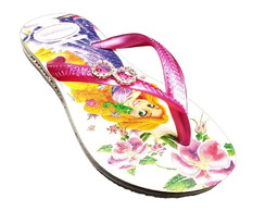 Havaianas Slim kids princess branco/pink
