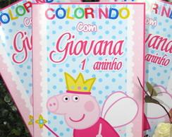 Revistinha de Colorir grande Peppa Pig