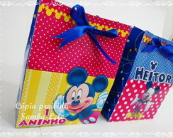 sacolinha personalizada Mickey Mouse