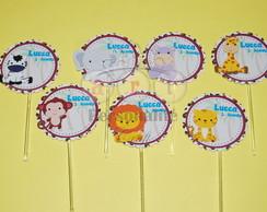 Topper Para Cupcake Safari Baby 1