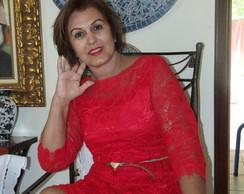 vestido elegance vermelho renascen�a