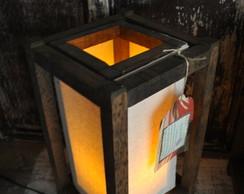 Lumin�ria de mesa com tecido