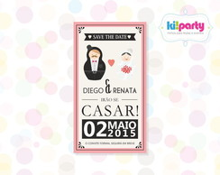 Save The Date Magn�tico 9x5cm