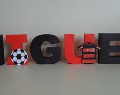 Letra Decorativa 3D - Futebol