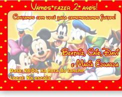 Mickey e sua turma Convite Anivers�rio