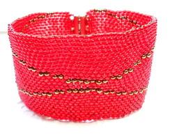Bracelete de Mi�angas *Vermelho*