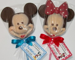 Pirulito de chocolate - Mickey ou Minnie