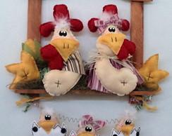 Guirlanda R�stica de galo, galinha