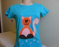 Camiseta Baby Look - Gatinho 1