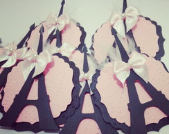 Topper para doces tema Paris