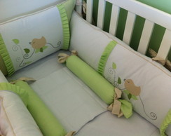 Kit Ber�o Love Bird Verde E Branco