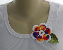 Broche Q-Show Flower Multicolor