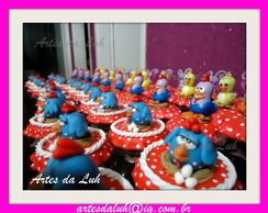 Potinhos decorados Galinha Pintadinha