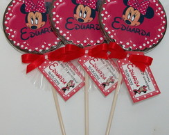 Pirulito de chocolate - Minnie