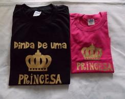 KIT CAMISETAS - DINDA/PRINCESA