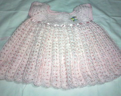 Vestido Rosa Crochet - beb�