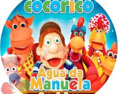 R�tulo Redondo Para �gua - Cocoric�