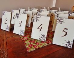 Placa para mesa de Casamento
