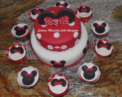 Bolo e Cupcakes da Minnie