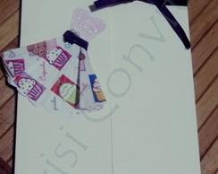Convite Vestido Cupcake