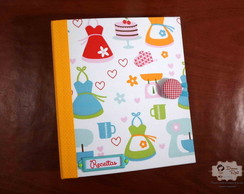 Caderno De Receitas Lovely-Wire embutido