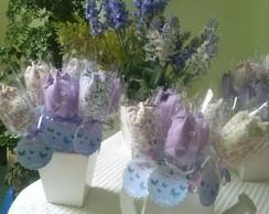 Tulipas de tecido floral perfumada lilas