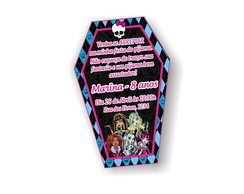 Convite Caix�o Monster High P