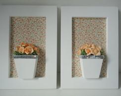 Quadro Flores Laranja