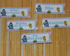 Topper bandeirinha galinha Pintadinha