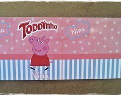 R�tulo Toddynho Peppa Pig