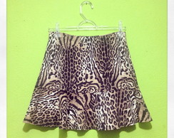Saia Animal Print Fashion