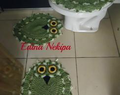Jogo banheiro Tapetes coruja