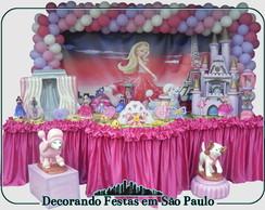 Decora��o Mesa Barbie Moda e Magia