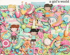 Kit Digital Menina (1) - A Girl's World