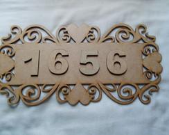 placa + 4 numeros 5 cm