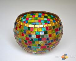 """Lumin�ria Em Mosaico """"Cores"""""""