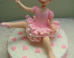 Bailarina em bisqui