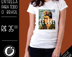 Camiseta Frida Kahlo Selfie