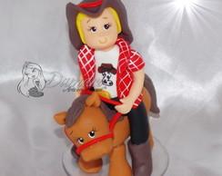 Topo De Bolo Fazendeiro No Cavalo