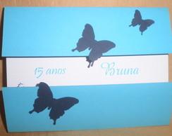 Convite 15 Anos Borboleta Azul