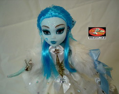 Boneca Estilo Monster High Laguna White
