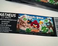Convite Modelo Ingresso - Angry Birds
