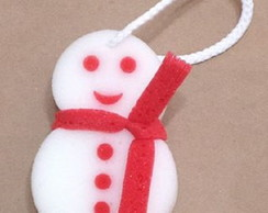 Esponja de banho boneco de neve