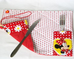 Lugar Americano Com Bolso Para Lunch Bag