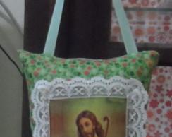 Mini Almofada Santo Retr� Jesus Cristo