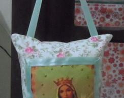 Mini Almofada Santo Retr� Virgem Maria