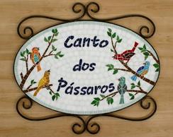 """Placa """"Canto dos P�ssaros"""""""