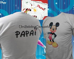 camiseta mickey adulto papai