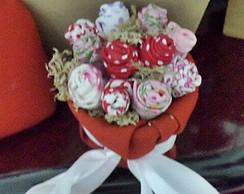 mini vasinho com mini rosas-Dia das M�es